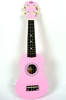 21 inch MIKE UKULELE GUITAR PEACH WOOD WITH BAG