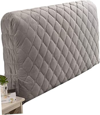 WY&XIAN Bed Headboard Cover Single/Double/King Size,Upgraded version Dustproof Stretch Bed Head Protector Cover Simple European style thickening Color Bedroom Decoration。 Waterproof and heat resistant