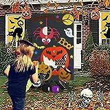 Qpout Juegos de Fiesta de Halloween para niños, Juegos de Lanzamiento de Bolsas de Frijoles de...