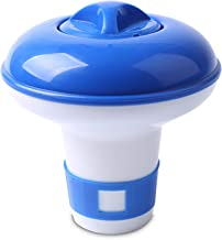 Fesjoy Dispensador de Productos químicos para Piscinas Dispensador de tabletas de Cloro Flotante Dispensador de Productos químicos para SPA Piscinas de Interior al Aire Libre Spas Tinas Calientes PIS