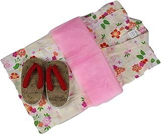 浴衣セット 女の子 ゆかた(桜)黄色(紅梅織り) 3点セット KWG-1 100/110/120cm