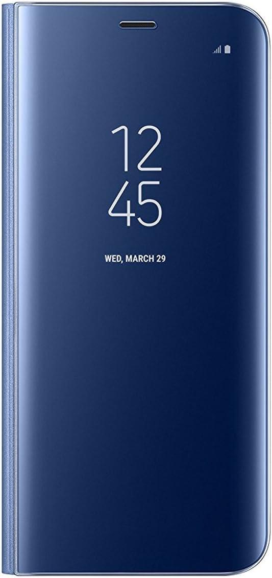Coque Samsung Galaxy S8/S8 Plus Coque Clear View Case Etui Flip Clair Transparente Anti-Empreintes Housse Plating Mirror Téléphone Portable...