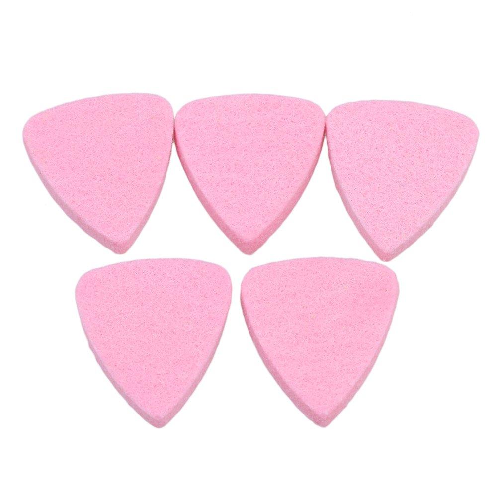 BQLZR 3 x 2.8 cm rosa guitarra fieltro púas para ukelele y Bass Pack de 5: Amazon.es: Instrumentos musicales
