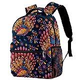 Mochila para niños y niñas para la escuela, diseño de paisley, mochilas lindas para jardín de infancia o elemental 29,4 x 20 x 40 cm, Pavos reales7, 29.4x20x40cm, Mochilas Daypack