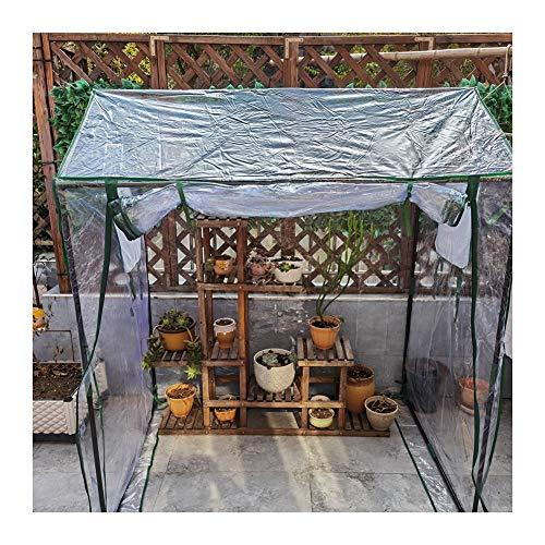 Gzhenh Invernadero Plastico Invernadero Casero Pequeño Cobertizo De Flores Anticongelante Mantener Caliente Sin Agua Estancada Balcón Pabellón (Color : Clear-2pcs, Size : 130x90x150cm)