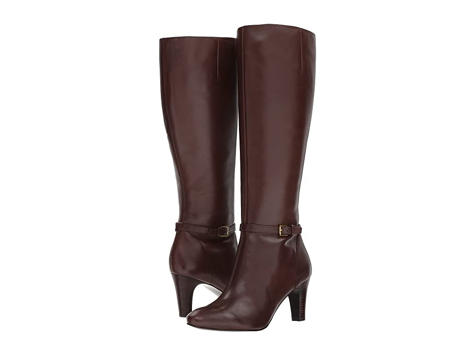 LAUREN Ralph Lauren Sandie (Dark Brown Burnished Calf) Women