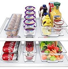 REFRIGERATOR ORGANIZER SET – Ideally sized to fit fruits, vegetables, and other food items in the fridge, freezer, or pantry – All drawers feature a built-in handle for easy pull-out and transport 6 PIECE SET INCLUDES – 2 WIDE DRAWERS – Ideally sized...