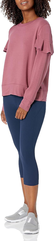 Core 10 Women's (XS-3X) Cloud Soft Yoga Fleece Ruffle Sleeve Crew Sweatshirt