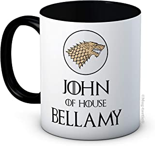 Your First Name & House Surname - Stark Sigil - Game of Thrones Inspired - Personalized Ceramic Coffee Mug