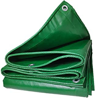 ZXPYZ Tarp Protection Sheet Shrink Proof, Waterproof, UV, Rot, Rust Resistant Multi-Purpose Tarpaulin with Grommets, Reinforced Edges for Outdoor Rain Shelter, Ground Cover - Green 2mx1m