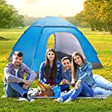 Jumix 6 Person Camping Tent with Carry Bag (Multicolour)