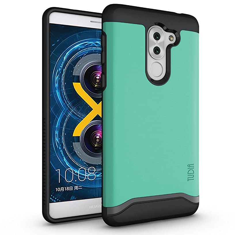 TUDIA Honor 6X Case, Slim-Fit HEAVY DUTY [MERGE] EXTREME Protection/Rugged but Slim Dual Layer Case for Huawei Honor 6X (Mint)