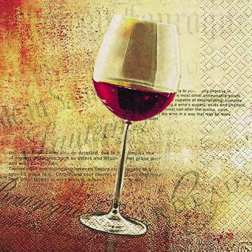 Home Fashion Lunch Serviette Classic Wein 33 x 33 cm, rot, one Size