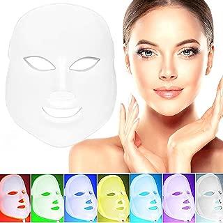 MXIN LED mascarilla-fotón Terapia para rejuvenecimiento de la Piel Sana, Anti envejecimiento, Arrugas, colágeno, cicatrización blanqueamiento rejuvenecimiento. 7 Color