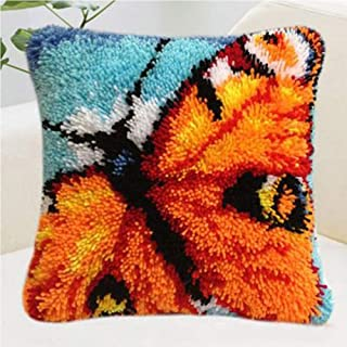 Crochet Loquet Coussin Kit for Les débutants Loquet Crochet Kit Bricolage Tapis Coussin Tapis Crocheting Couture Artisanat...