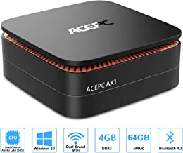 ACEPC AK1 Mini PC, Windows 10 (64-bit) Intel Celeron Apollo Lake J3455 Processor(up to 2.3GHz) Desktop Computer,4GB DDR3/64GB eMMC,2.4G+5G Dual WiFi,Gigabit Ethernet,BT 4.2,4K