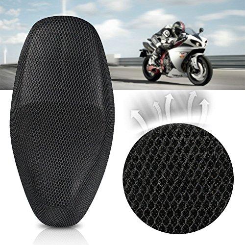 Jisoncase バイクシートカバー 3D メッシュシートカバー 撥水 断熱 日焼け止め 換気 バイク シートカバー 張り替え 座り心地快適 取り付け簡単 雨 濡れ防止 オートバイシートカバー 汎用品 XL(78~85×40~53)