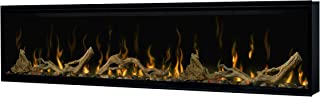 DIMPLEX Excite Linear Electric Fireplace Insert with Ceramic Heater, Interchangeable Log or Crystal Ember Bed, Multi-Colored Flames and Remote Control, 60in