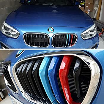 Fit for BMW 3 Series GT Gran Turismo 2013-2017 F34 11 Slats Bars Grilles Bonnet Hood Kidney Clip in Inserts Grille Stripes Cover Decor M Sport Tech Power Performance 3 Color