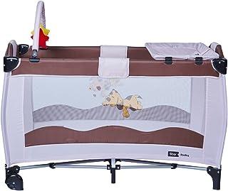 comprar comparacion Cuna de Viaje Plegable Star Ibaby Sleep & Play. Doble Altura + Cambiador + Arco de juegos.