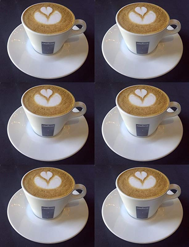 6 X Cappuccino Cups And Saucers 5 5 Oz