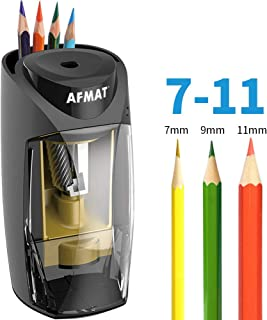 Pencil Sharpener for Colored Pencils, Pencil Sharpener Large Hole, Colored Pencil Sharpener, 7-11mm Pencils Electric Sharpener with Power Adapter for Artist/School/Classroom/Home/Office