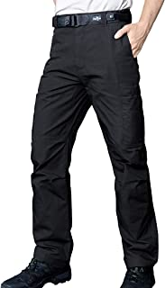 FREE SOLDIER Men's Waterproof Tactical Cargo Pants Lightweight Ripstop Hiking Work Pants with Pockets