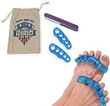 Doctor Freedom Gel Toe Stretcher and Separator for Healthy and Youthful Feet. Use For Medical or Personal Pain Relief. Pedicure Friendly