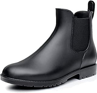 Women's Short Ankle Rain Boots Waterproof Rubber Chelsea Booties