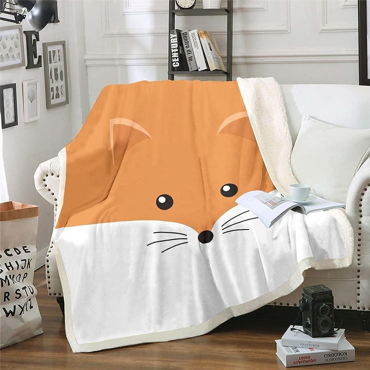 LAYENJOY Kids Fox Throw Max 74% OFF Blanket Boys Over item handling ☆ Girls Wo Cute 50