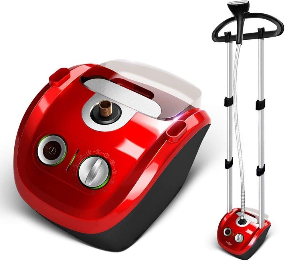 ZOUJUN máquina de Colgar Vapor, Recargables Ropa Que cuelga Vapor Vapor Tela Altura de Postura Cepillo de Gran Capacidad 2,3 litros (Color : Red)