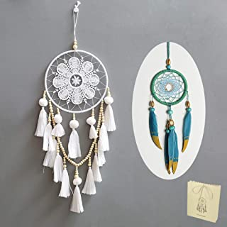 Handmade Dream Catcher,Wall Hanging Home Decor Dream Catcher with Feathers 8
