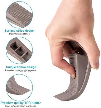 Ozland Rubber Hook Type Door Stopper, Door Stop Works on All Floor Surfaces, Control The Size of The Door Gaps and Pr...
