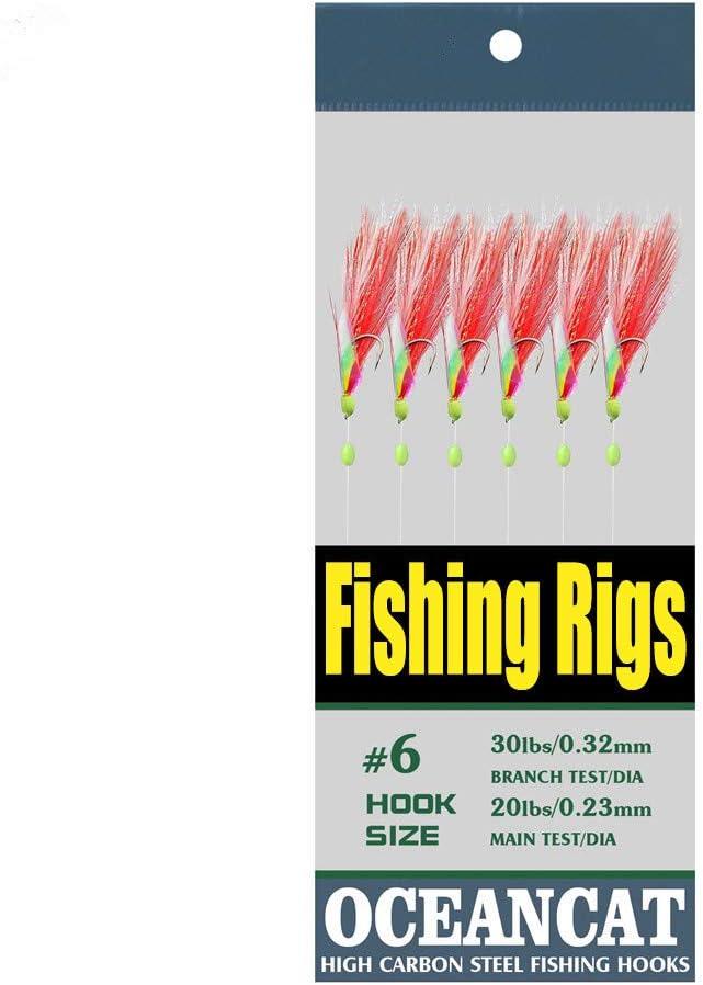 10 Packs Max 44% OFF 2pcs White Red Feather Hooks Under blast sales Skin Rainbow 6 Saltwat
