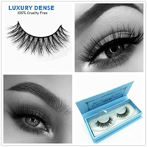 1926c098ffa Miss Kiss 3D Mink Lashes Reusable Strip,100% Siberian Mink Fur False  Eyelashes Hand