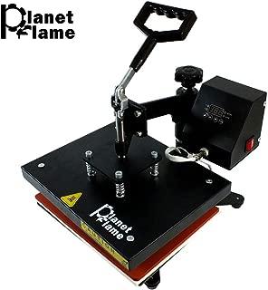 PlanetFlame Industrial-Quality CE 9x12 inch Swing Away Heat Press Machine, Professional 360-degree Rotation Digital Plain Sublimation Printing Machine Heat Transfer Presses (Black, 9