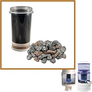 Nikken Aqua Pour 1 Filter Cartridge + 1 Mineral Stones - 1361 + 1386 | Advanced Replacement for Gravity Water Filter Purif...