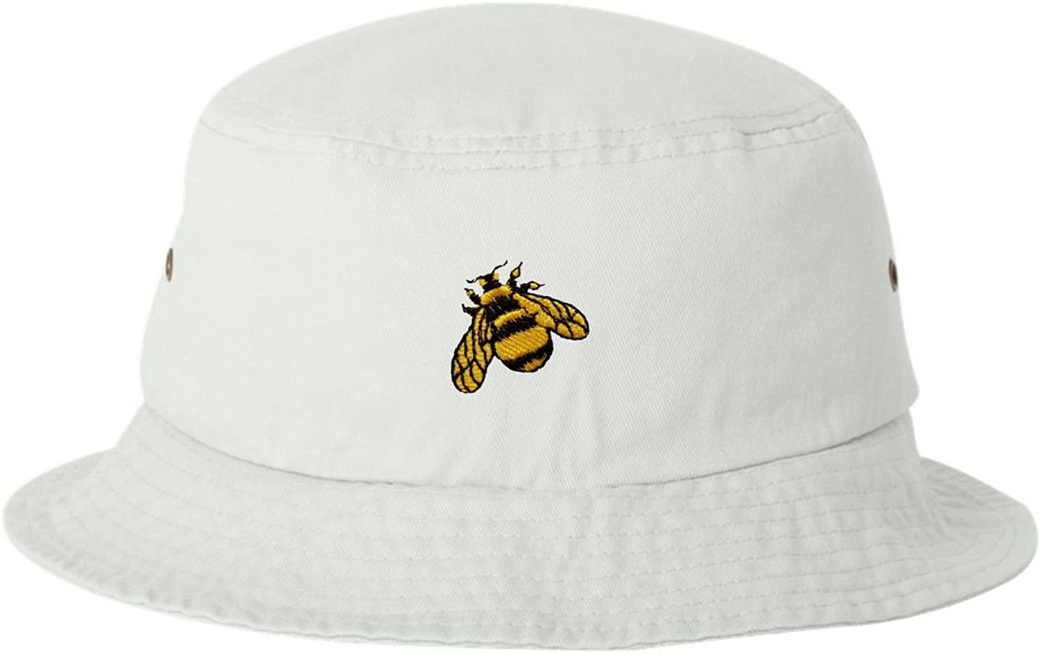 Go All Out Adult Bumble Bee Embroidered Bucket Cap Dad Hat