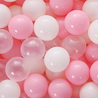 PlayMaty Play Ball Pit Balls - 2.36inches Phthalate&BPA Free Plastic Ocean Colour Balls for Kids Toddlers and Babys for Playhouse Play Tent Playpen Pool Party Decoration Pack of 70 (Pink)