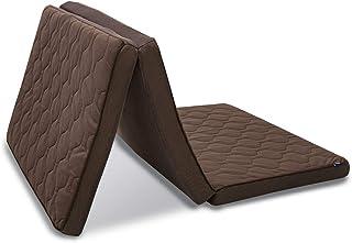 アイリスオーヤマ エアリー マットレス ハイブリッド 三つ折り 厚さ9cm 高反発 リバーシブル 通気性 高耐久性 抗菌防臭 洗える シングル ブラウン HB90-S