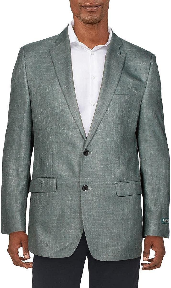 LAUREN RALPH LAUREN Mens Lexington Linen Professional Two-Button Blazer