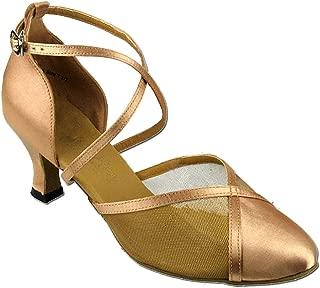 Women's Ballroom Dance Shoes Tango Wedding Salsa Shoes 9622EB Comfortable-Very Fine 2.5