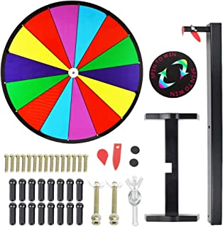 Tabletop Prize Wheel Spinning Win The Fortune Spin Game 14 Slots Color Dry Erase Game Spinner Wheel Easy to Clean