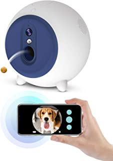2-Way Audio App Control Monitor Your Dogs and Cats Treat Tossing 720P Night Vision Camera Dog Treat Dispenser Compatible with Alexa bimnux Smart Pet Camera Android//iOS 2.4GHz WiFi Enable
