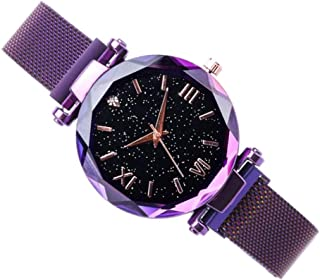 Perfeclan Shinning Dril Pearl Quartz Watch Magnet Girl Party Banquet Watch