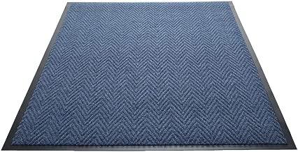 Guardian Golden Series Chevron Indoor Wiper Floor Mat, Vinyl/Polypropylene, 4'x6', Blue