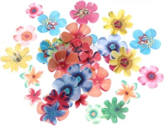 Cabilock 180pcs Edible Cake Flowers Colorful Realistic Flower Cupcake Topper Wafer Paper Flowers Dessert Floral Decoration...