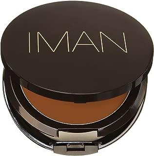 IMAN Second To None Cream To Powder Foundation, Dark Skin, Earth 3