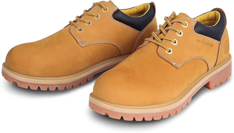 Jacata Men's Water Resistant Low Top Work Shoes Rubber Sole Construction Oil Resistant Utility Work Boots
