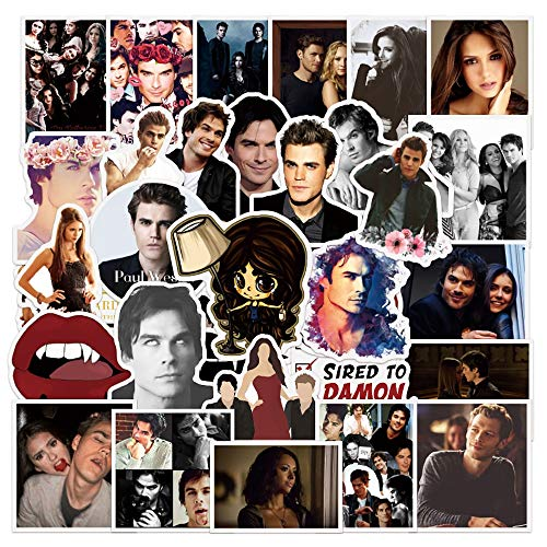 IBQ Cute Stickers Pack 50-Pcs TV Show The Vampire Diaries Stickers DIY Fridge Stickers Sticker for Laptop Luggage Skateboard Cars Motorcycle Bicycle Decals